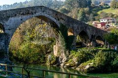 Most Nad Sella rzeką obrazy stock