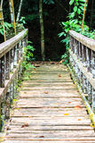 Most nad siklawą Obrazy Royalty Free