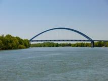 Most nad Tennessee rzeką--Południowy Pittsburg, Tennessee zdjęcia royalty free
