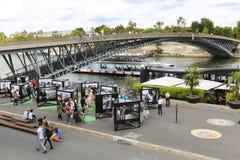 Most nad wonton rzeką, Paryż Fotografia Royalty Free