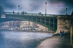 Most nad wontonem, Paryż Fotografia Stock