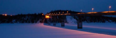 Most Nad Yukon rzeką Fotografia Royalty Free