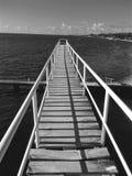 Most Nad zachód zatoką Obraz Royalty Free