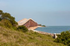 Most nigdzie w Dużym sosna kluczu Obrazy Stock