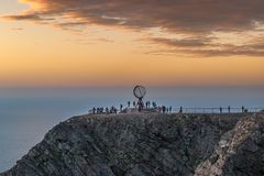 The most northerly point in Europe The North Cape stock image