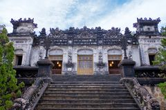 The most notable place in Khai Dinh Tomb in vietnam. stock images