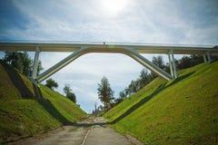 Most, Novgorod, Volga zdjęcie royalty free