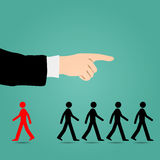 Most people are guided in the right direction. Stock Photography