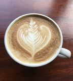 The hot cappuccino royalty free stock images