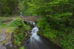 most pod wodospadem obraz royalty free
