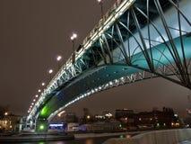 most podkreślający nad rzeką Fotografia Royalty Free