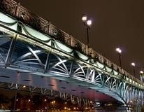 most podkreślający nad rzeką Obrazy Royalty Free
