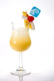Most popular cocktails series. Pina Colada cocktails. Rum, pineapple juice, coconut cream  garnished with slice of pineapple, coconut and maraschino cherry. Most Royalty Free Stock Image