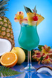 Most popular cocktails series - Blue Hawaiian Royalty Free Stock Images