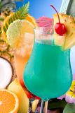 Most popular cocktails series - Mai Tai and Blue H Royalty Free Stock Image