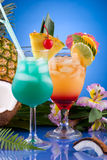 Most popular cocktails series - Mai Tai and Blue H Royalty Free Stock Images
