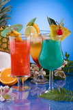 Most popular cocktails series - Mai Tai, Blue Hawa Stock Images