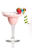 Most popular cocktails series - Strawberry Colada. Strawberry Colada cocktails. Rum, strawberry, coconut cream, vanilla icecream  garnished with strawberry and Stock Image