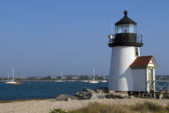 Most Popular Lighthouse on Nantucket Island Stock Image