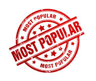 Most popular rubber stamp illustration Royalty Free Stock Image