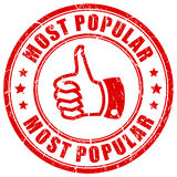 Most popular rubber stamp Royalty Free Stock Images