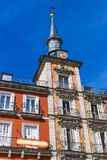The most popular square of the city visited by tourists and guests of Madrid Plaza Mayor Royalty Free Stock Photos