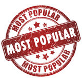 Most popular stamp royalty free illustration