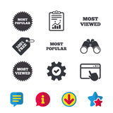 Most popular star icon. Most viewed symbol. Royalty Free Stock Images