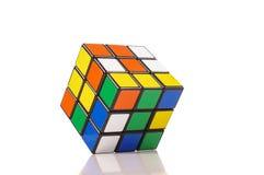 Rubik`s cube isolated on the white background stock photo