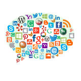 Most popular web icons Royalty Free Stock Images