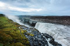 Most powerful waterfall Dettifoss. Dettifoss - most powerful waterfall in Europe. Jokulsargljufur National Park, Iceland Stock Photography
