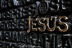 The most powerful word : Jesus royalty free stock photos