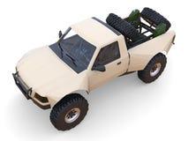 Most prepared sports race truck for the desert terrain Stock Photography
