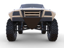 Most prepared sports race truck for the desert terrain. Front view. Royalty Free Stock Photos