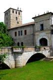 Most prowadzi w małą wioskę Portobuffolè w prowinci Treviso w Veneto (Włochy) Fotografia Royalty Free