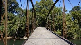 Most przez łoś rzekę Fotografia Stock