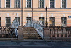 Most przez kanał. Obraz Stock