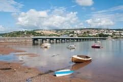 Most przez rzekę Teign Zdjęcie Royalty Free