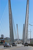 Most przez Złotego róg Władywostok rosji 22 05 2015 Zdjęcia Stock