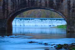 Most przy Bennett Skacze stanu park Obraz Royalty Free