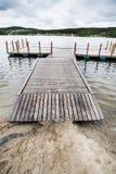 Most przy jeziorem Zdjęcie Stock