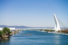 Most przy jeziornym Hamana Obraz Royalty Free