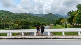 Most przy Kiriwong Tajlandia zdjęcie stock