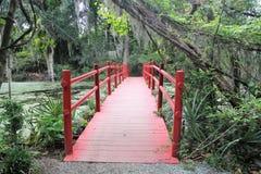 Most przy Magnoliową plantacją w Charleston, SC Obraz Stock