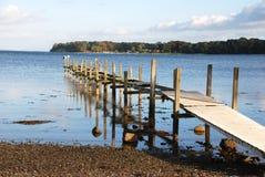 Most przy morzem bałtyckim, Dani zdjęcie stock