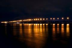 Most przy nocą obrazy royalty free