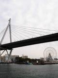 Most przy Osaka zatoką Fotografia Royalty Free