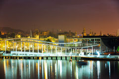 Most przy Portowym Vell Barcelona Zdjęcie Stock