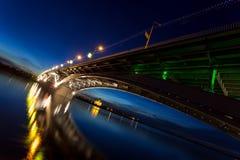 Most przy spokojną nocą Fotografia Royalty Free