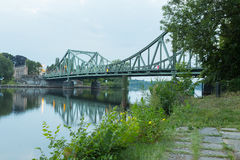 Most przy wieczór Fotografia Stock
